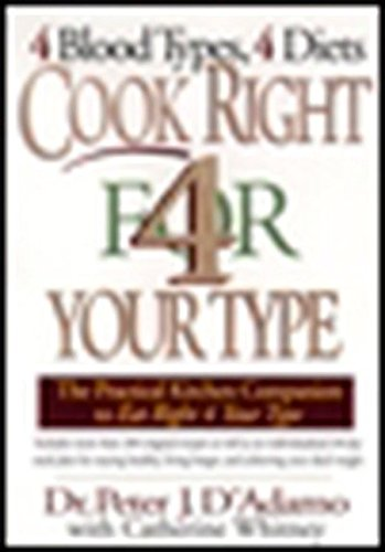 Cook Right 4 Your Type: The Practical Kitchen Companion to Eat Right 4 Your Type (Grocery List For High Protein Low Carb Diet)