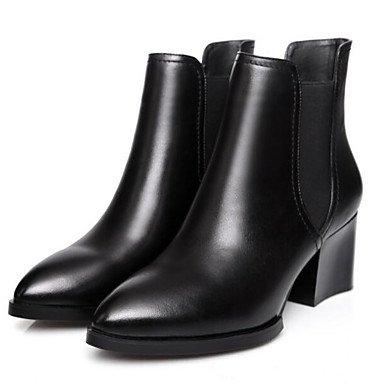 Primavera Moda Casual Cowhide Zapatos RTRY Botas EU36 De CN35 Negro Marrón Botas Mujer Otoño UK3 De Confort 5 US5 5 I4q4wvBx