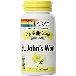 Solaray Organic St. John's Wort 450mg 100 Count