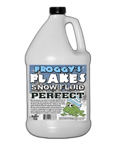 Snow Flurry Effect Machine - Froggys Snow Juice - 1 Gallon Evaporative Fluid for Artificial Snow Flake Machines
