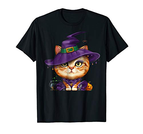 Ginger Tabby Cat Witch Halloween