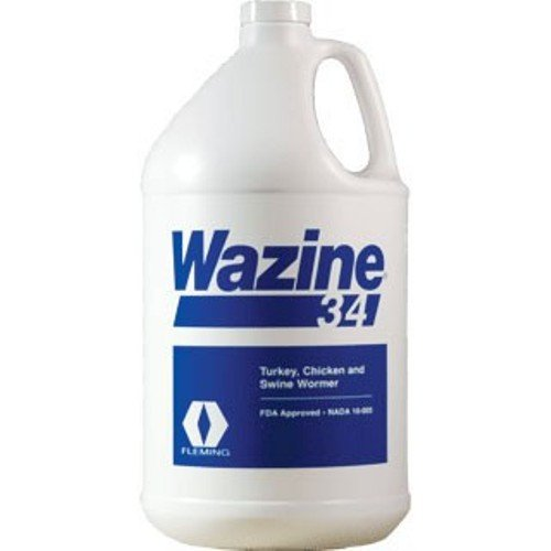 Durvet Wazine Piperazine Base Wormer Removal Large Roundworm Bots 34% Gallon by Durvet