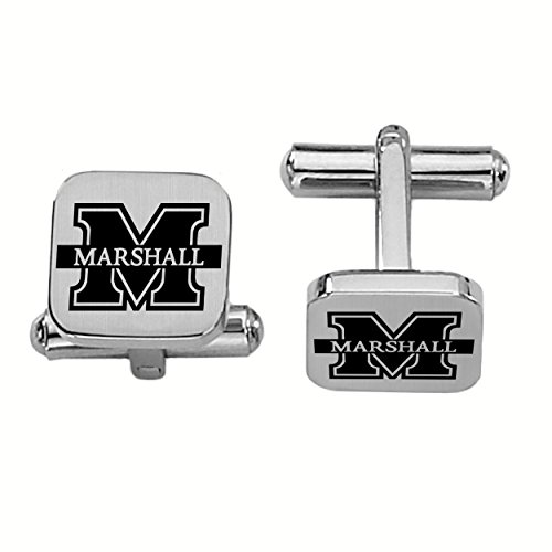 College Jewelry Marshall The Thundering Herd Stainless Steel Square -