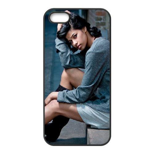 Girl Brunette Model coque iPhone 5 5S cellulaire cas coque de téléphone cas téléphone cellulaire noir couvercle EOKXLLNCD23941
