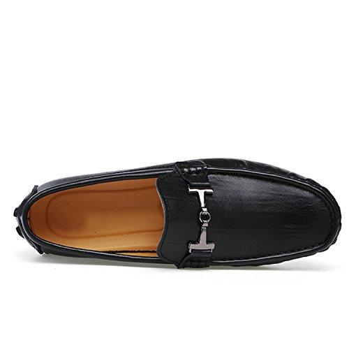 Miyoopark tn1597 men's snap ring leather driving casual loafers boat