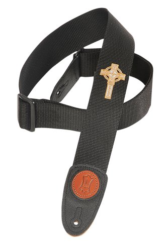 Levy's Leathers MSS8CC-BLK 2-inch Polypropylene Strap with Embroidered Celtic Cross,Black