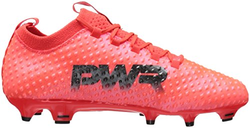 PUMAevoPOWER Vigor 3D 1 FG Jr - Evopower Vigor 3D 1 FG Jr Niños, Unisex Fiery Coral-puma Black-toreador