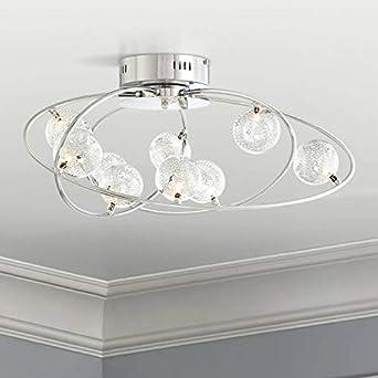 Possini Euro New Orbit Chrome 23 3 4 Wide Ceiling Light