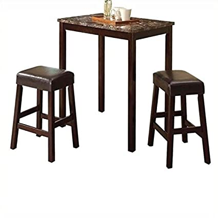Enjoyable Amazon Com Pemberly Row 3 Piece Counter Height Set In Ibusinesslaw Wood Chair Design Ideas Ibusinesslaworg