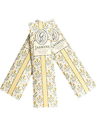 GREENLEAF Fragrant Slim Sachet Scented Envelopes Drawer Liners, Room and Car Freshener Set of 3 (Jasmine Flower)