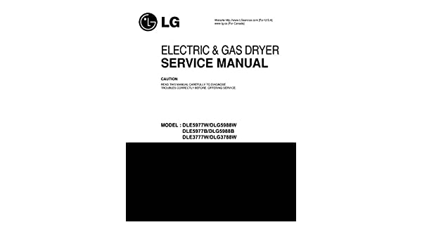 Lg dle3777w | service manual.
