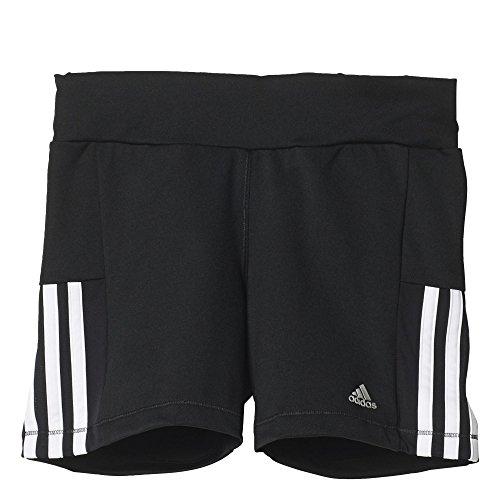 adidas Mädchen Hotpants Gear-Up Short Tights, Black/White, 128, AK2675