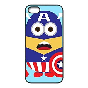 Performance Designed Products Minions&Captain America Custom Cases for iPhone 5S,iPhone 5 (TPU)