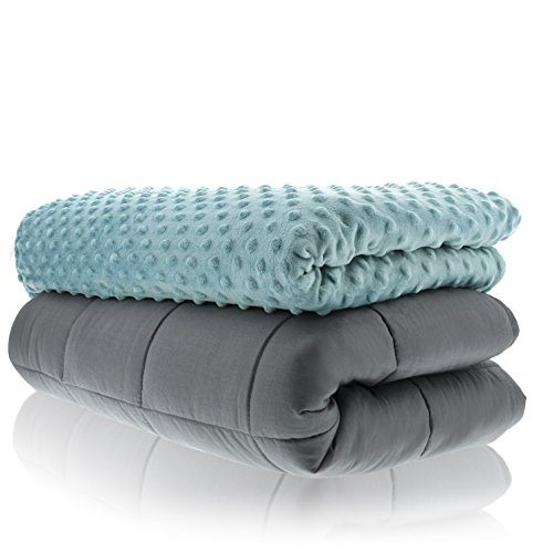 Weighted Blankets Adult Size-for Heavy Stress Relief, Autism, Restless Leg Syndrome & Natural Calm for Anxiety - Tide 48x72 10 LBS- Blankets Made from Our Best Relaxation Sleep Fabric