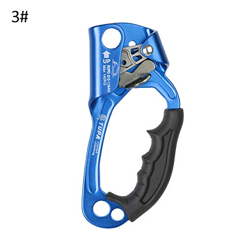 w70anFUyjn Hand Climbing Ascender Outdoor Vertical Rope Access Rescue Gear for Outdoor Mountaineering Expedition, Caving, Rescue Aerial Work Multiple Choices 3#