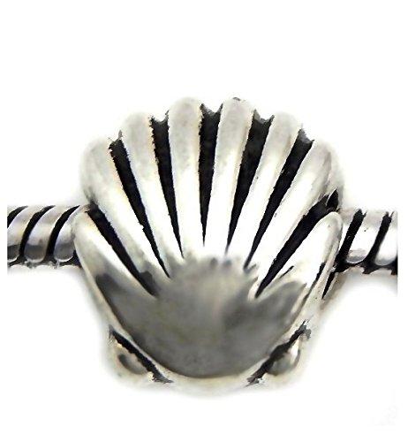 J&M Sea Shell Charm Bead for Bracelets ()