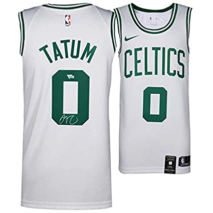 huge selection of 3c2db 83758 Amazon.com: JAYSON TATUM Autographed Boston Celtics White ...