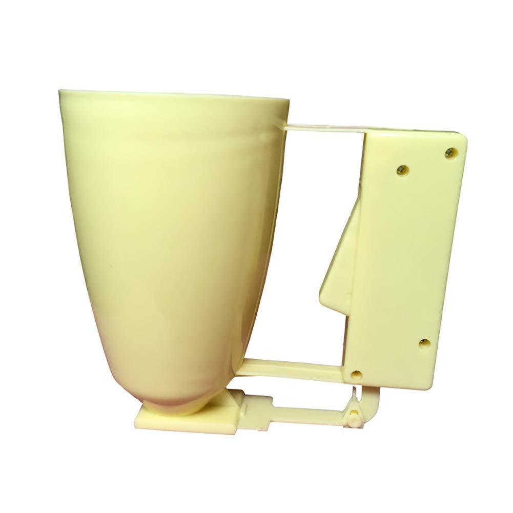 Tempshop 1 Stück Kuchen Sahne Spender Kuchen Backen Backen Teig Teig Spender Werkzeug gelb