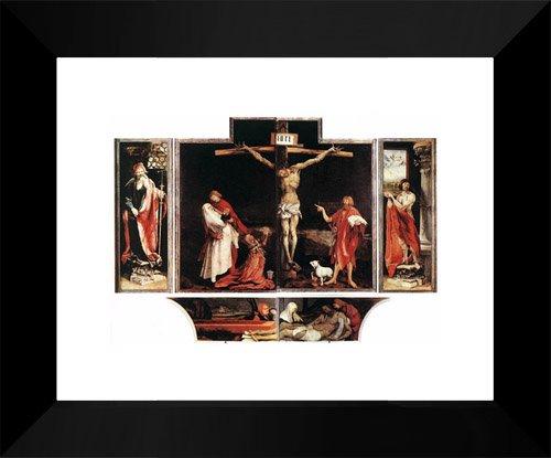 (Isenheim Altarpiece (first view) 15x18 Framed Art Print by Grunewald, Matthias)