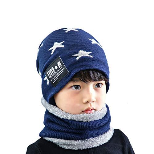 Acvip cappello del di Set sciarpa blu marino guanti e 7F7vq