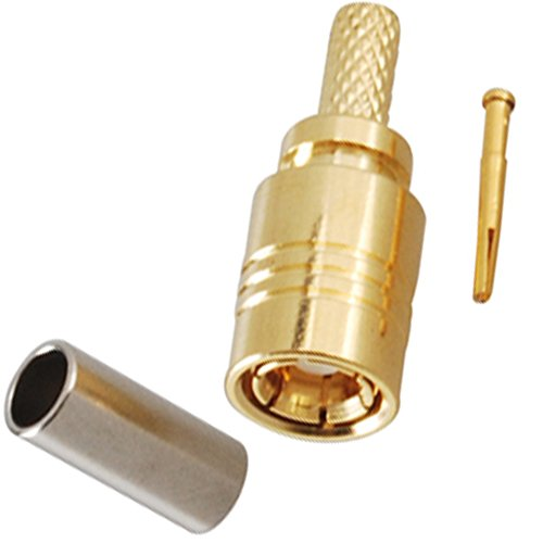 Radio Gps Xm Portable (Bingfu RF Connector Standard 50 Ohm SMB Plug with Female Basket Hole Compatible with RG174 RG316 LMR100 RG188A Applied in Base Stations Antennas Radio Boards PC/LAN GPS (Pack of 10))