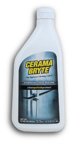 Cerama Bryte - Stainless Steel Cleaning Polish with Mineral Oil, Polishes and Protects Steel Surfaces - 16 oz