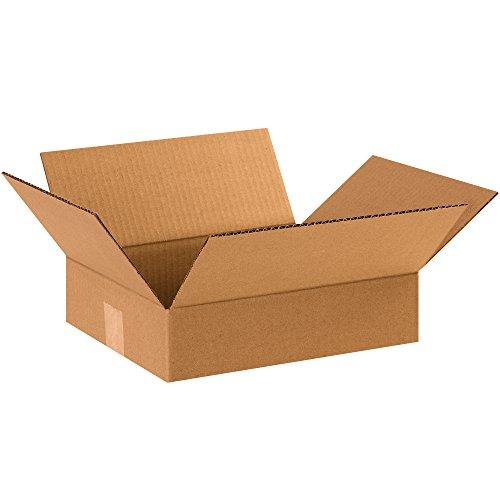 BOX USA B12103100PK Flat Corrugated Boxes, 12