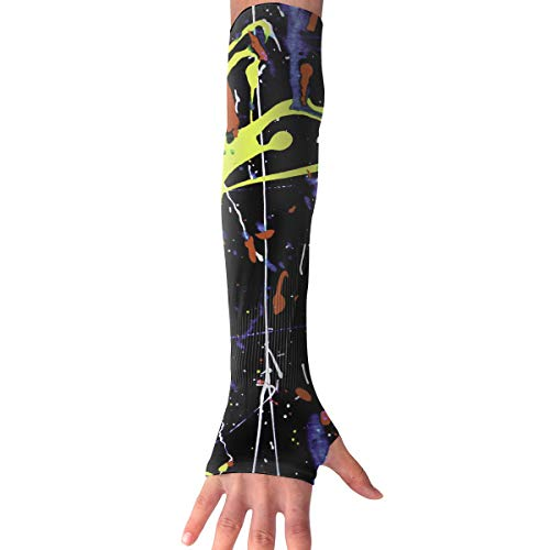 Red-Christ Paint Splats Arm Sleeves UV Cooling Sleeves Arm Cover Sun-Protection Men Women Youth