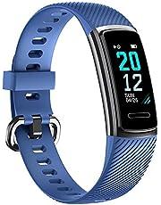 TOOBUR Fitness Armband, Fitness Tracker Uhr Wasserdicht IP68 mit Pulsuhr Schrittzähler Schlafmonitor Kalorienzähler, Damen Herren Kinder Smartwatch Sportuhr für Android iOS (2019 Neuestes Modell)