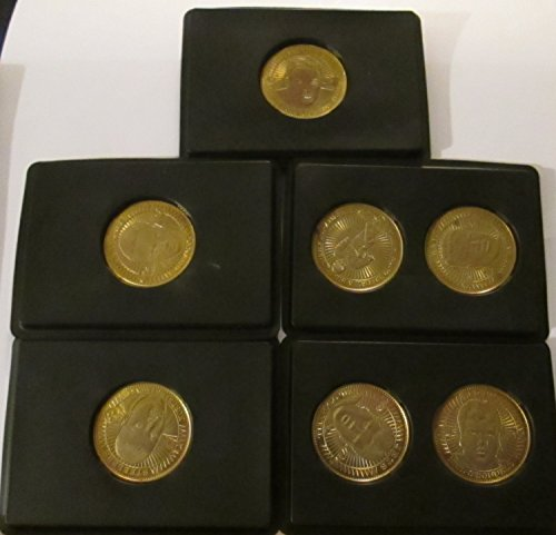 NFL QB CLUB COLLECTIBLE COINS - LOT OF 9 (JEFF GEORGE, MARK BRUNELL, KERRY COLLINS, TONY BANKS & KORDELL STEWART)