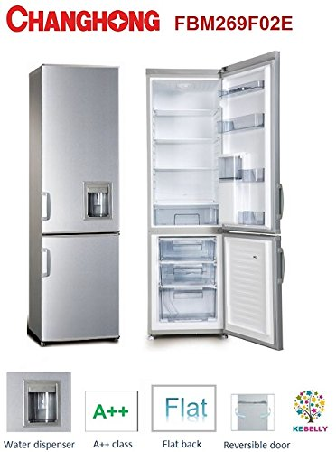 frigo combinato 300 litri changhong inox con dispenser classe a++: ...