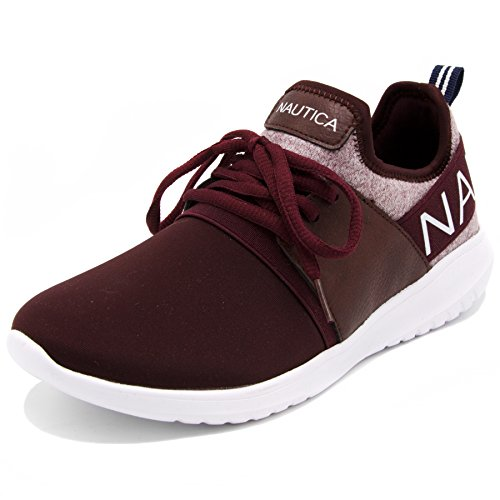 Nautica Women Fashion Jogger Sneaker-Burgandy Heather-6 by Nautica