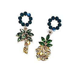 Shiny Pineapple Crystal Drop Rhinestone Dangle Earring