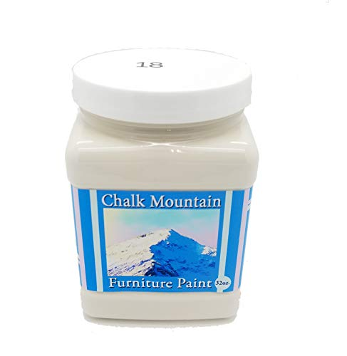 Chalk Mountain Supply Quality Chalk Furniture Paint- NON TOXIC-SAFE TO USE INDOORS- Superior Coverage-LOW ODOR & ZERO VOC (32oz) #18