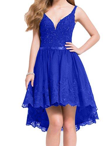 Traube lo Rock Promkleider Partykleider Neu Abendkleider Hi Blau Abschlussballkleider Spitze La Royal mia A Kurzes Linie Braut XqOfUfwE