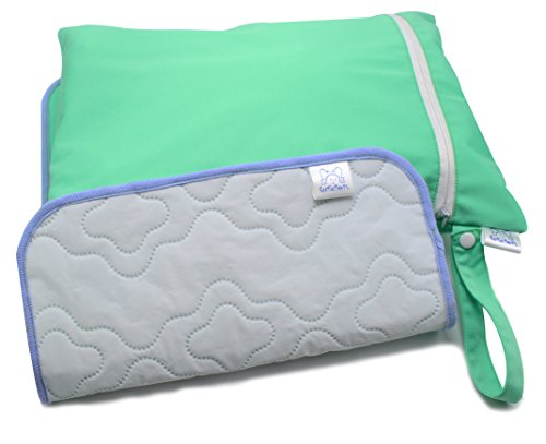 CutieTots Diaper Wet Bag - (Spring Green) With Free Changing Mat