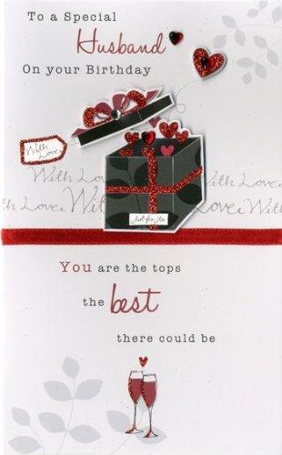 Amazon Happy Birthday Husband Embellished Greeting Card Second