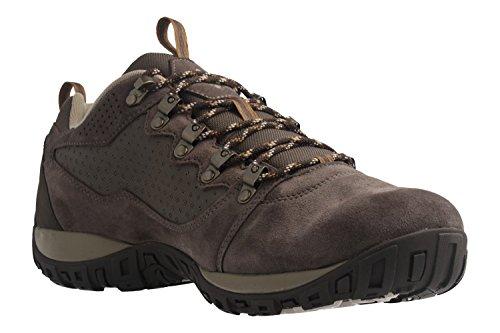 Columbia - Zapatillas de senderismo de Piel para hombre marrón marrón