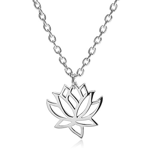 Design Lotus Flower Pendant - choice of all Gold Silver