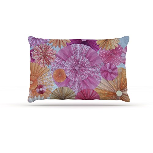 Kess InHouse Heidi Jennings ''Blossoming'' Pink Orange Dog Bed, 30 by 40-Inch by Kess InHouse