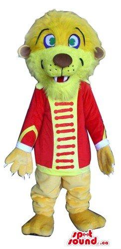 Happy Lion Hussar SpotSound Mascot US costume wild animal fancy (Hussar Costume)