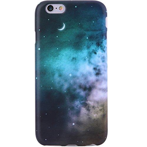 iPhone 6 Case, iPhone 6s Case,VIVIBIN Cute Blue Green Space Nebula for Women Girls Clear Bumper Best Protective Soft Silicone Rubber Glossy TPU Cover Slim Fit Best Phone Case for iPhone 6/iPhone 6s