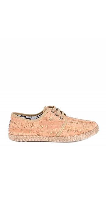 FLOSSY Alpargatas Corcho Cordones - Color - Taupe, Talla Zapatos Mujer - 40: Amazon.es: Zapatos y complementos