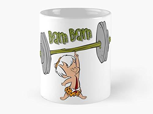 (Funny Bam Bam Training The Flintstones Cartoon Mug, Standard Mug 11 oz Premium Quality printed coffee mug - Unique Gifting ideas for Friend/coworker/loved)
