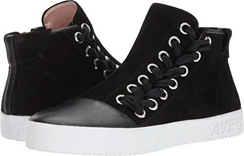 Avec Les Filles Women's Valerie Black Kid Suede/Nappa 8.5 M - Suede Nappa Black Footwear