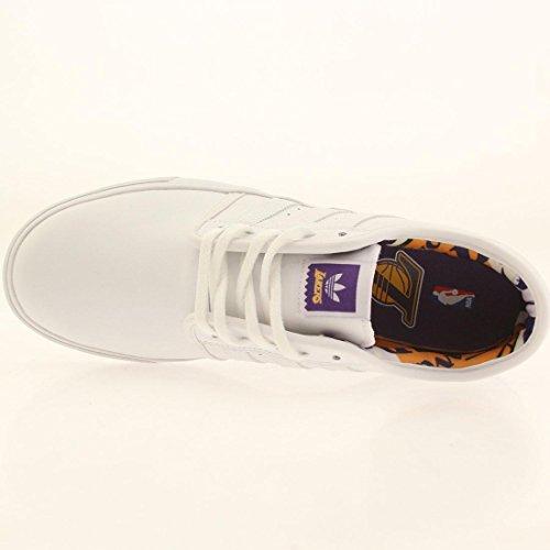 Mens Adidas Da Skateboard Seeley - Nba Bianco / Oro / Viola Regale