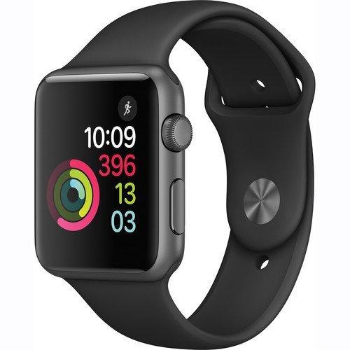 (Apple Watch Series 1 Smartwatch 42mm, Space Gray Aluminum Case/ Black Sport Band (Newest Model) (Renewed))