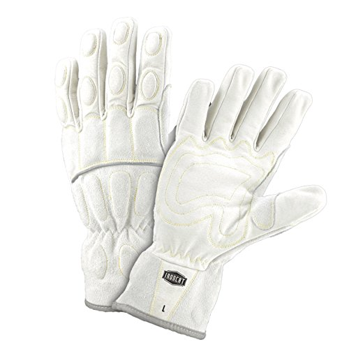 West Chester IRONCAT 9075 Grain Buffalo Leather Utility Gloves: White, Large, 1 Pair (& Lighting Supply Chester)