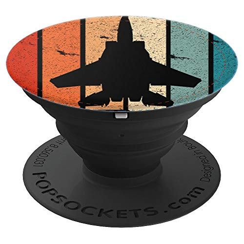 F-15 Eagle Jet Fighter Retro Vintage Aviation Airplane - PopSockets Grip and Stand for Phones and Tablets