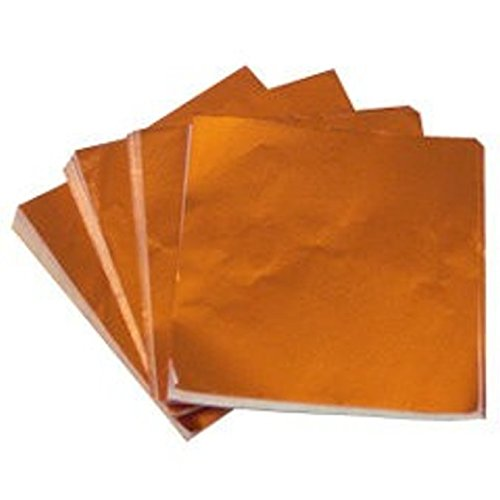 6 X 6'' Orange Foil Candy Wrappers